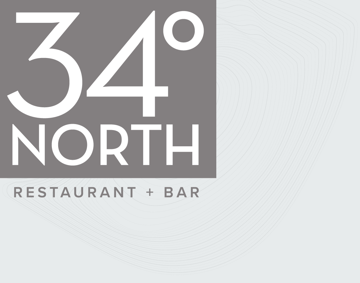34 degrees north logo with topography map lines