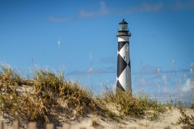Cape Lookout Lighthouse at the Cape Lookout National Seashore