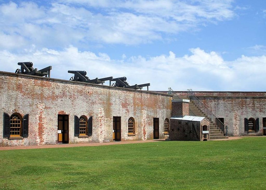 fort macon state park exterior