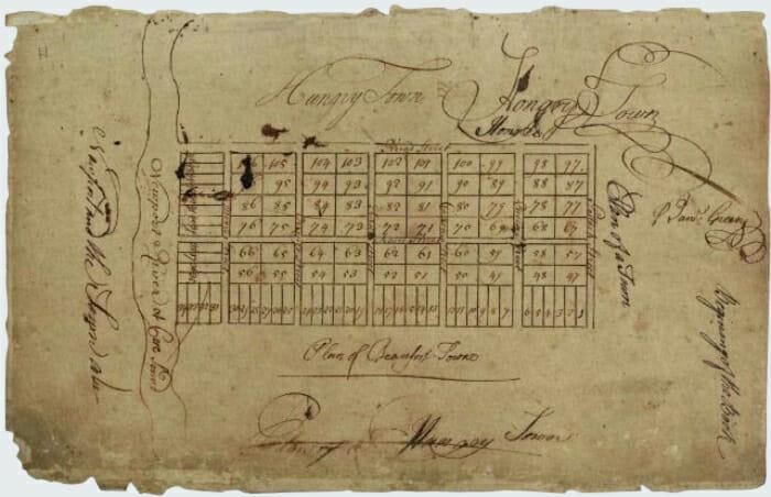 1713 Plat of Beaufort NC