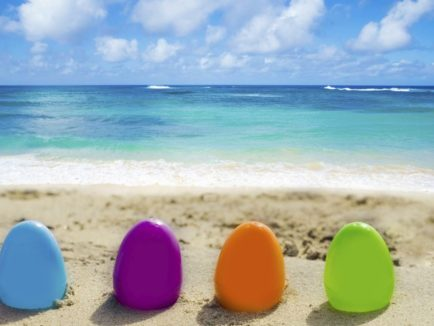 Easter eggs in the sand