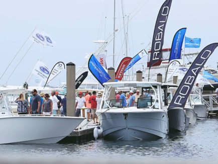 Thousands of people visit Morehead City NC to view new and used boats, on display at the Crystal Coast Boat Show.