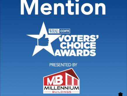 honorable mention wral voter's choice awards graphic