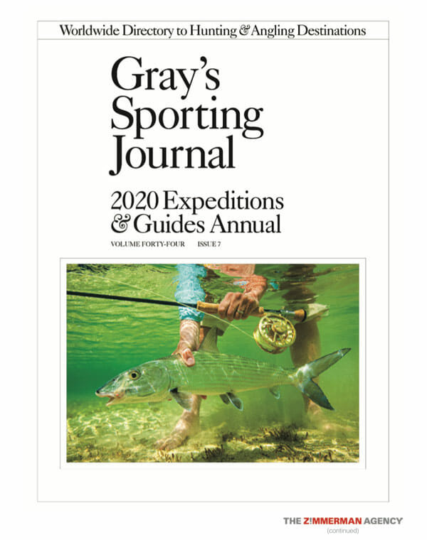 gray's sporting journal 2020 expeditions and guides annual cover