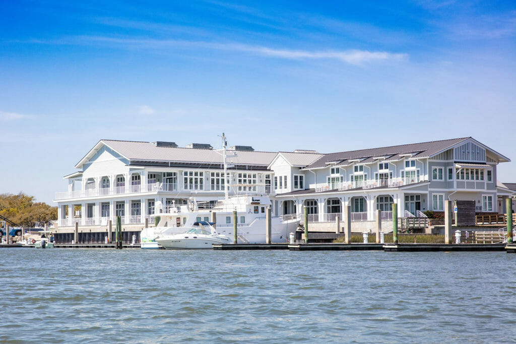 Exterior of 34 Degrees North Restaurant at Beaufort Hotel, NC